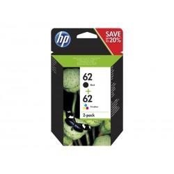 HP 62 Twin Pack (Noir)