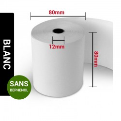 Bobines Thermiques Sans Bisphenol A 80 x 80 x 12